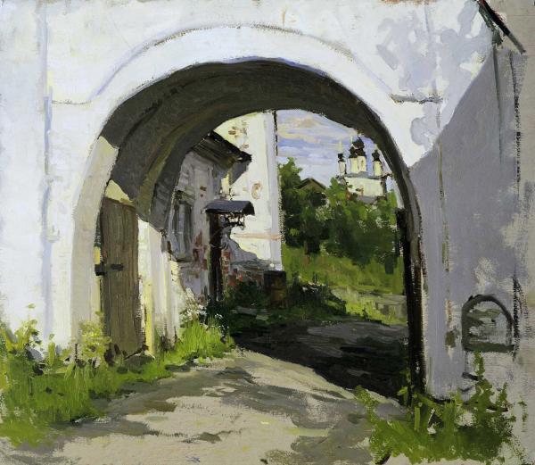 Виталий Графов.  Монастырские ворота(Суздаль)