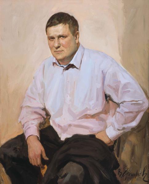 Виталий Графов. Мужской портрет.