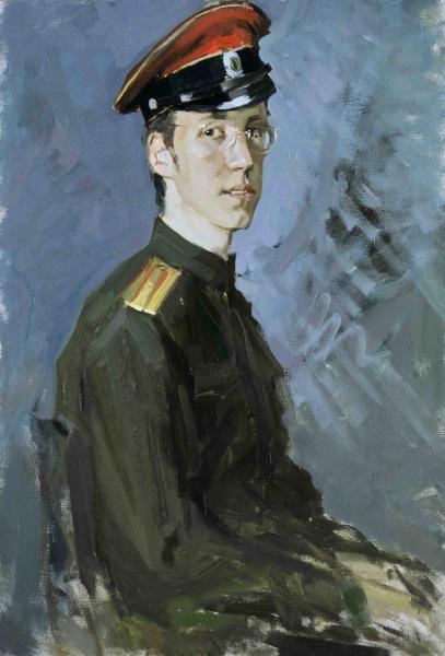 Vitaly Grafov. A portrait of a Contemporary in the White Guard Uniform.