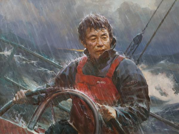 Vitaly Grafov. Portrait of a yachtsman Guo Chuan
