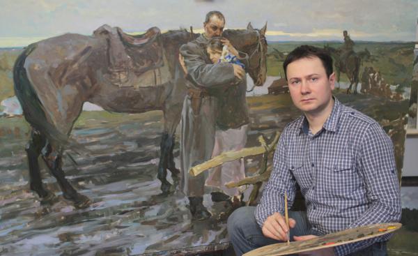 Виталий Графов. Работа над картиной