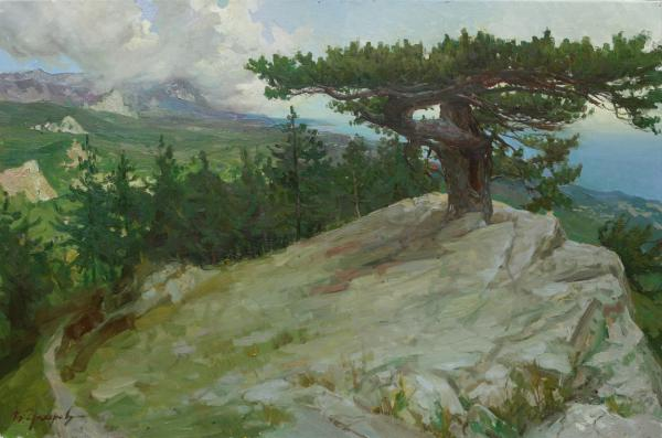 Vitaly Grafov. At the top of the mountain