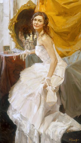 Виталий Графов. Наденька. Жена художника.