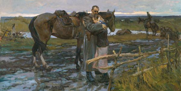 Vitaly Grafov. I will return. 2010. х.м., 110х215.