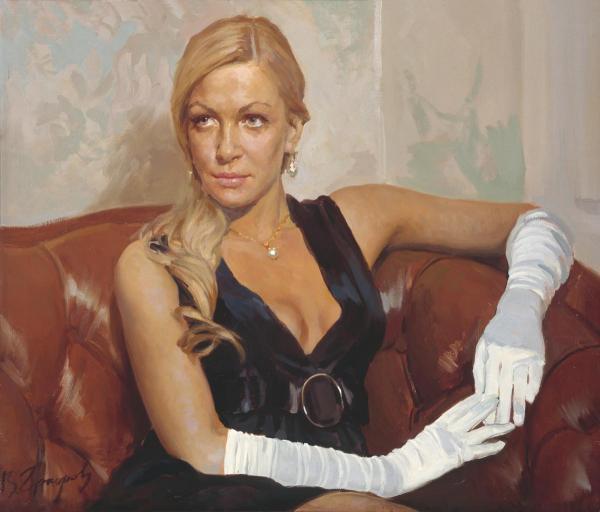 Виталий Графов. Девушка в белых перчатках.