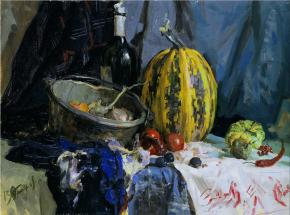 Vitaly Grafov. Still Life with a Pumpkin.