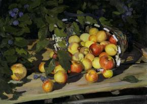 Vitaly Grafov. Basket with Apples.