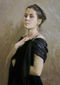 Vitaly Grafov. The Portrait of E. Melentyeva.