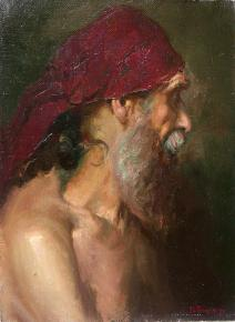 Vitaly Grafov. Head of the old man