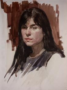 Vitaly Grafov. portret-etud-givopis