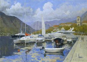 Vitaly Grafov. Quay of Kotor.