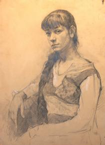Виталий Графов.  Портрет девушки