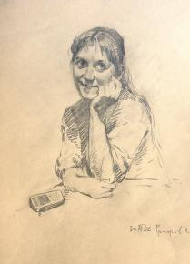 Vitaly Grafov. portret-grafika-tatyana
