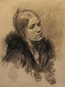Vitaly Grafov. portret-grafika-genskaia-golov
