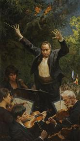 Виталий Графов. Дирижер Валерий Гергиев.Концерт в Цхинвале.