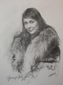 Виталий Графов. Наденька. Жена художника