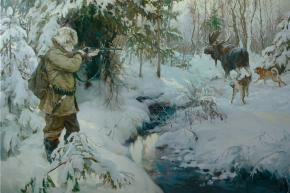 Vitaly Grafov. Moose Hunting